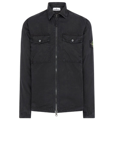 107WN Cotton Rep OLD Effect Overshirt in Black
