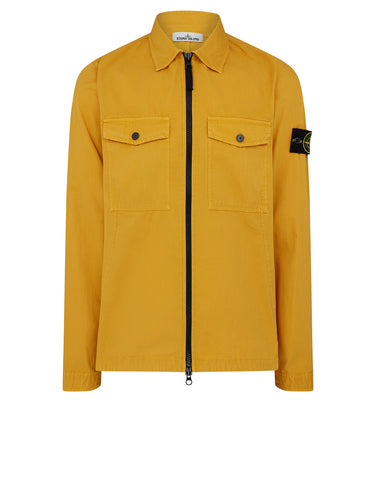 107WN Cotton Rep OLD Effect Overshirt in Mustard