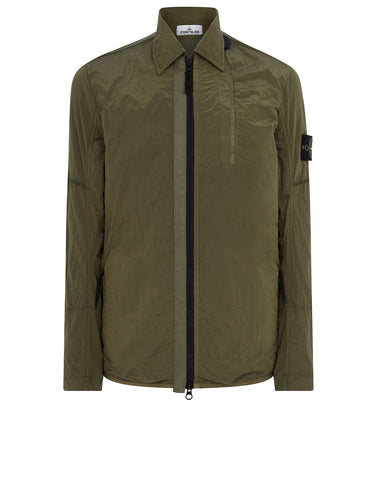 10812 NYLON METAL Overshirt in Olive
