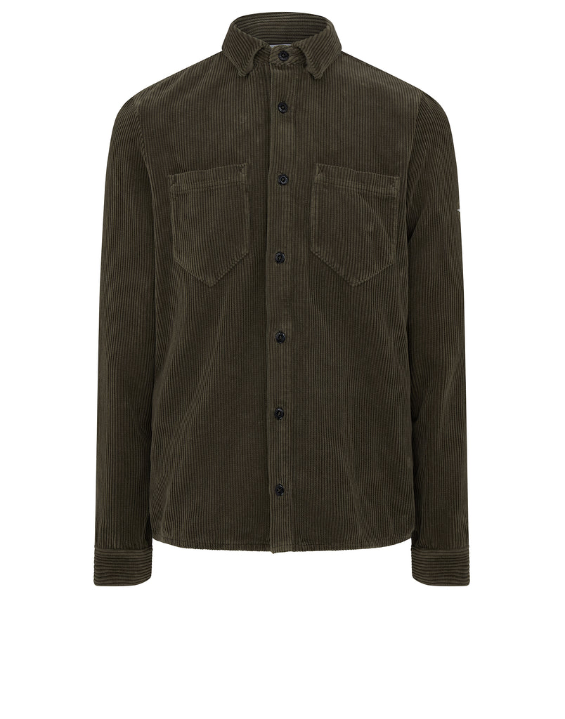 11239 CORDUROY Shirt in Olive