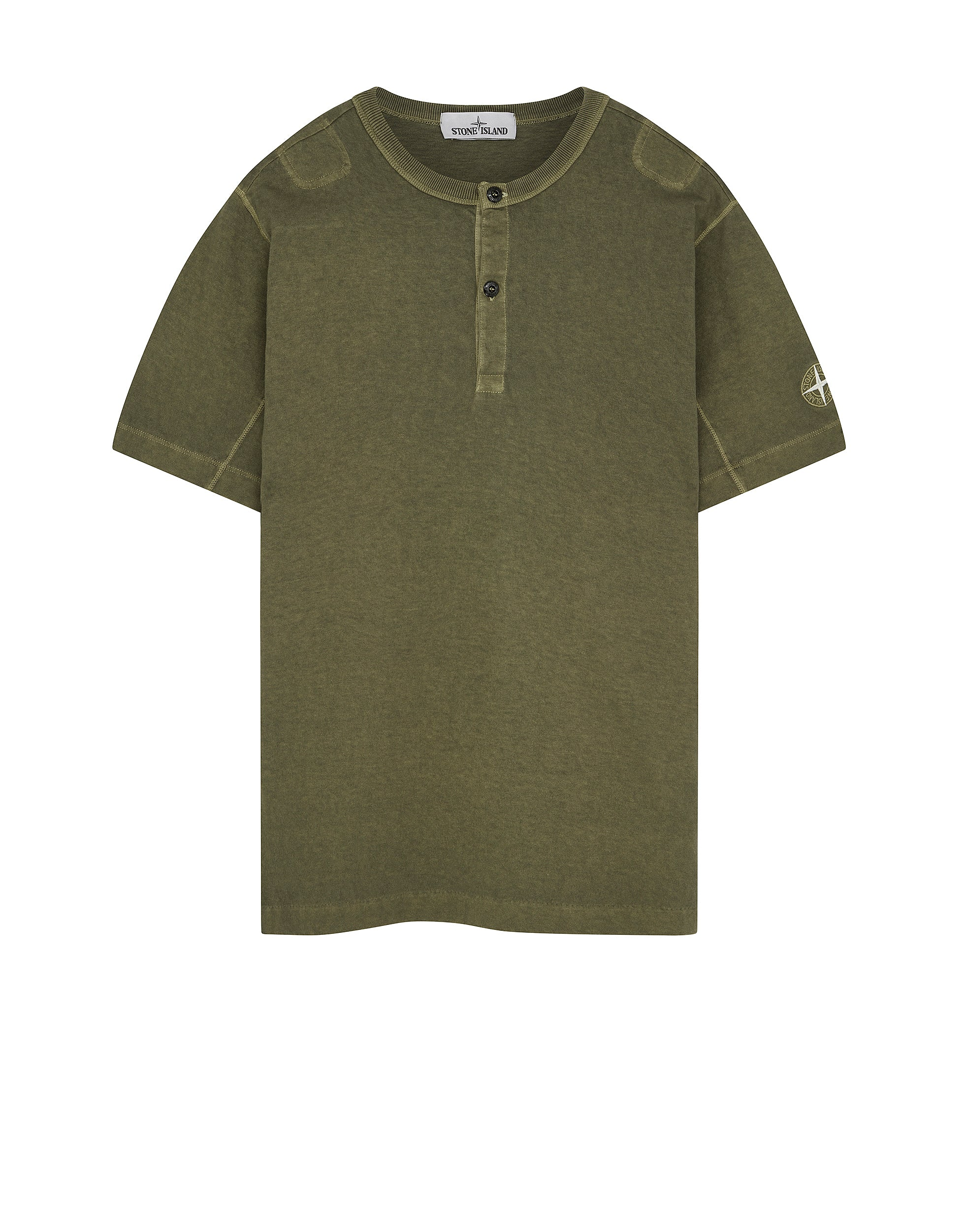 20842 'FISSATO' DYE TREATMENT T-Shirt in Olive