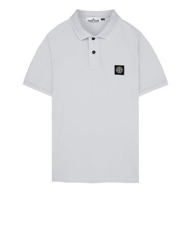 22S18 Slim Fit Polo Shirt in Ice