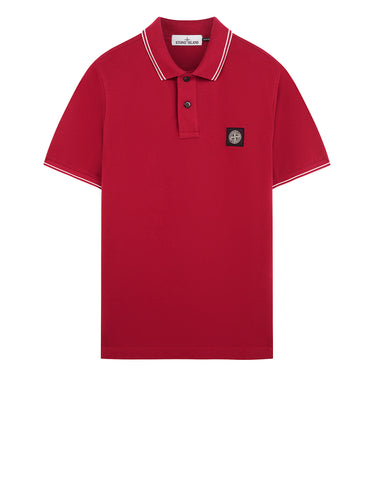 22S18 Polo Shirt in Cherry