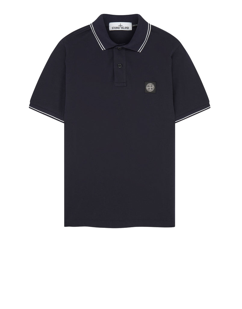 22S18 Slim Fit Polo Shirt in Navy Blue
