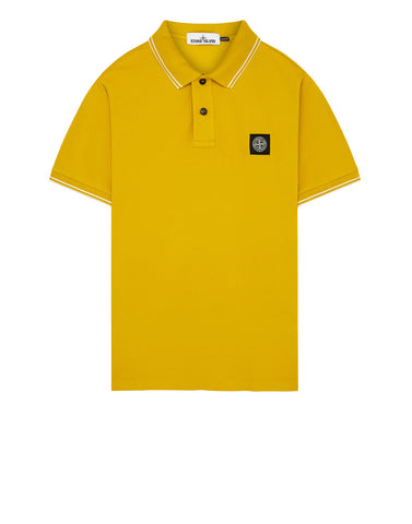 22S18 Slim Fit Polo Shirt in Mustard