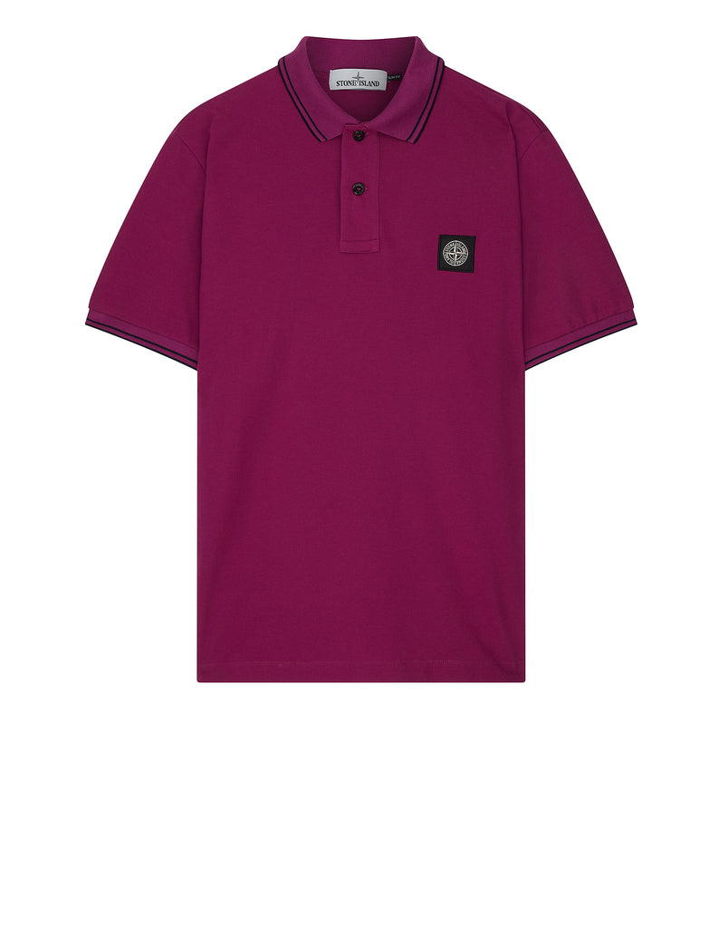 22S18 Slim Fit Polo Shirt in Purple
