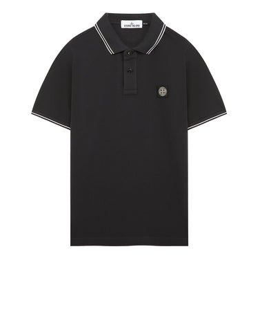 22S18 Slim Fit Polo Shirt in Charcoal