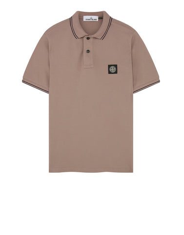 22S18 Slim Fit Polo Shirt in Rose Quartz