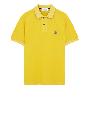 22S67 PIGMENT DYE Polo Shirt in Mustard