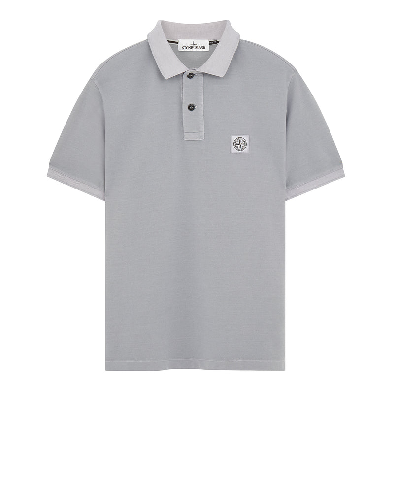 22S67 PIGMENT DYE Polo Shirt in Lavender