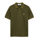 22S67 PIGMENT DYE Polo Shirt in Sage