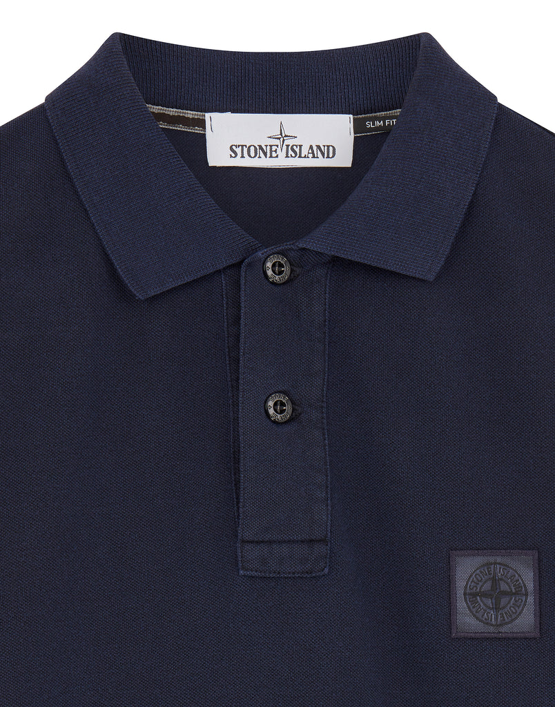 22S67 PIGMENT DYE Polo Shirt in Ink