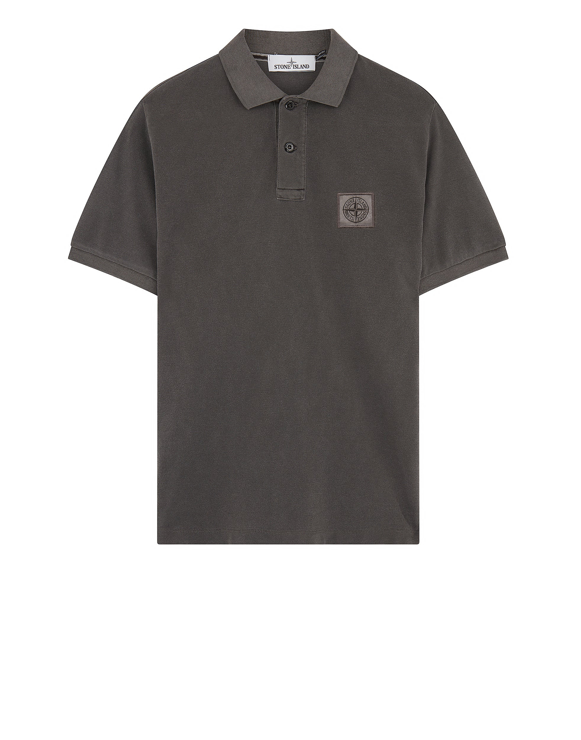 22S67 PIGMENT DYE Polo Shirt in Charcoal