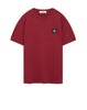 24141 Small Logo Patch T-Shirt in Cherry
