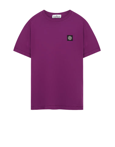 24141 Small Logo Patch T-Shirt in Purple