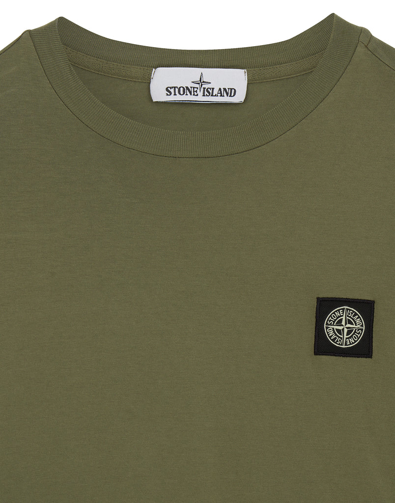 24141 Small Logo Patch T-Shirt in Olive