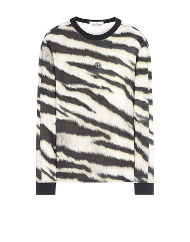 243E2 White Tiger Camo Long Sleeve T-Shirt in Beige
