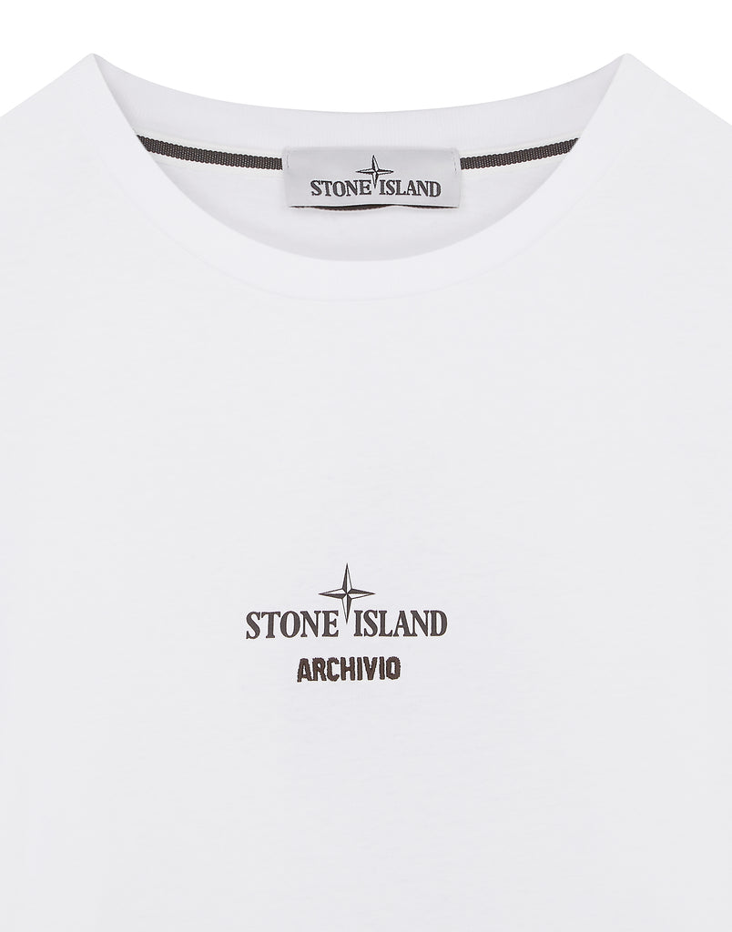 2Ml91 Stone Island Archivio Project Poly Felt T-Shirt in White