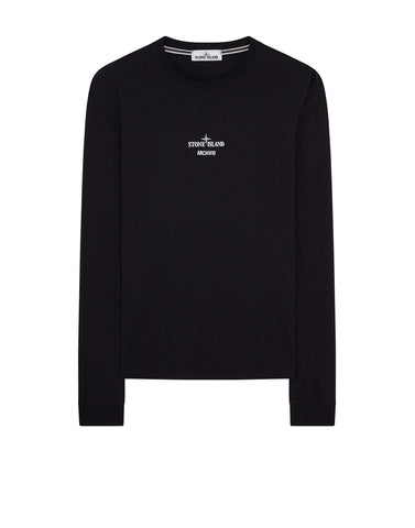 2Ml91 Stone Island Archivio Project Poly Felt T-Shirt in Black