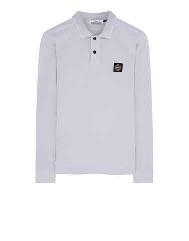 2SS18 Long Sleeve Polo Shirt in Ice