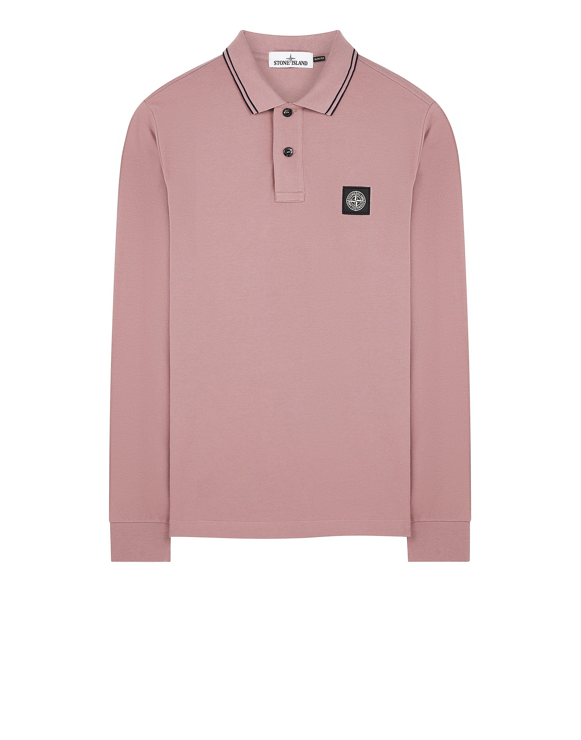 2SS18 Long Sleeve Polo Shirt in Rose Quartz