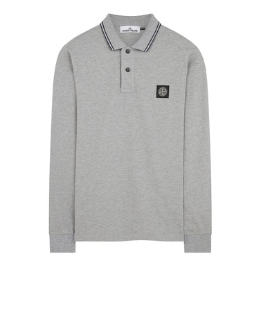 2SS18 Long Sleeve Polo Shirt in Dust