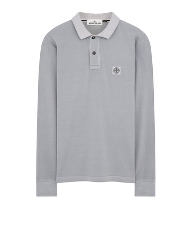 2SS67 PIGMENT DYE Polo Shirt in Lavender