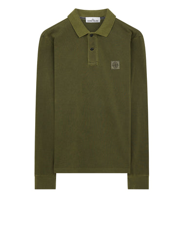 2SS67 PIGMENT DYE Polo Shirt in Sage