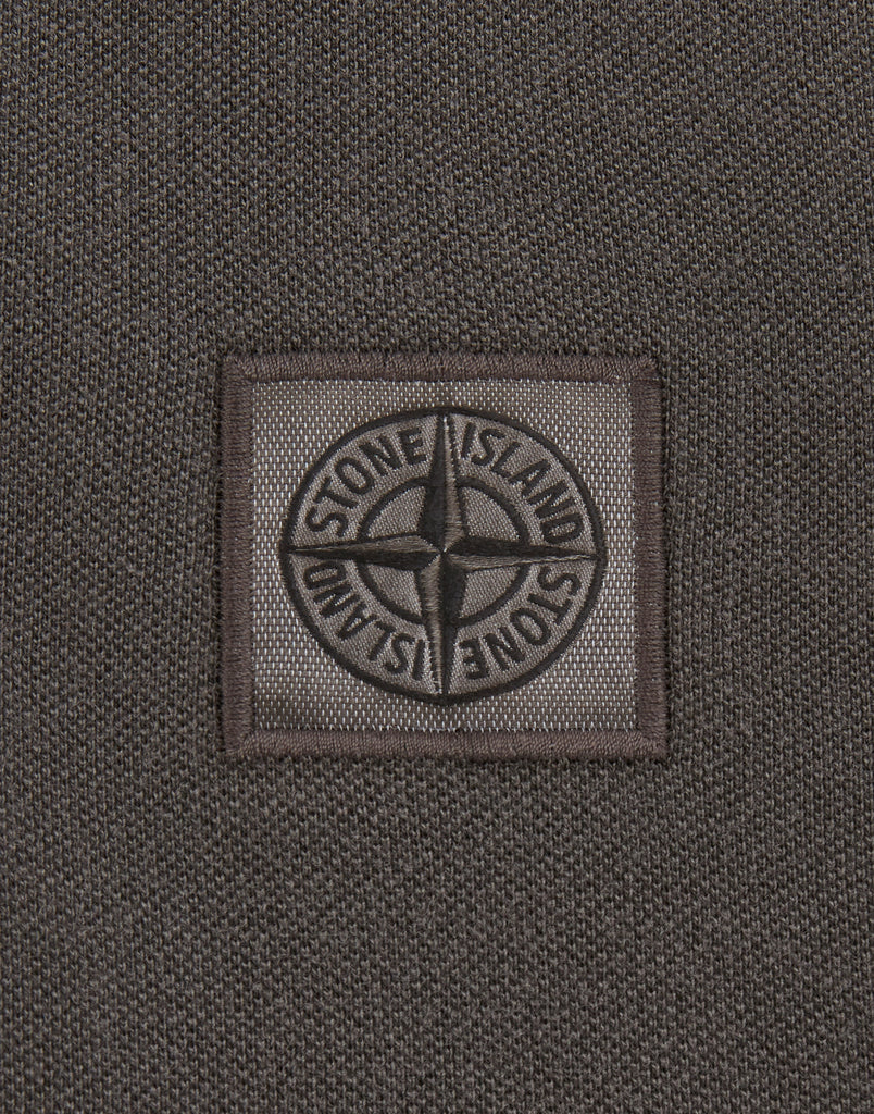 2SS67 PIGMENT DYE Polo Shirt in Charcoal