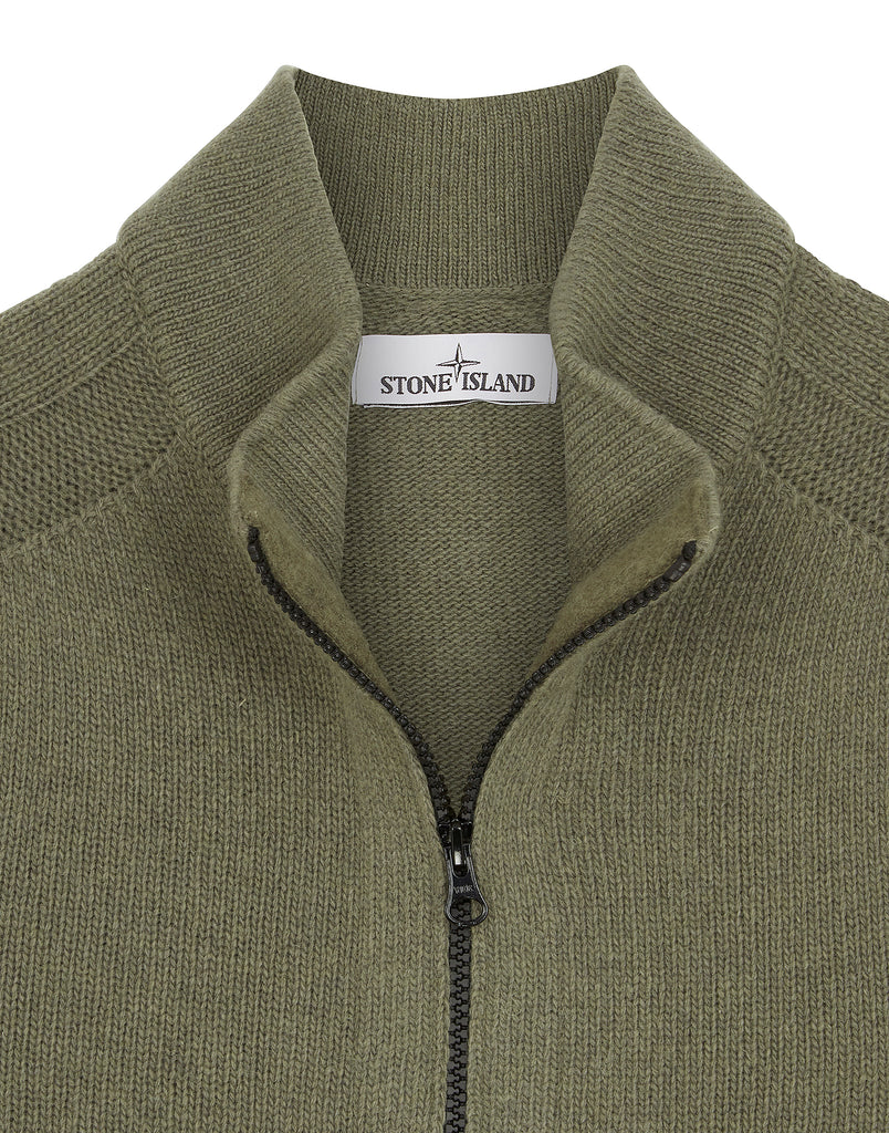 527A3 Zipped Knit in Olive
