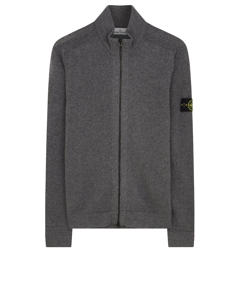 527A3 Zipped Knit in Dark Grey
