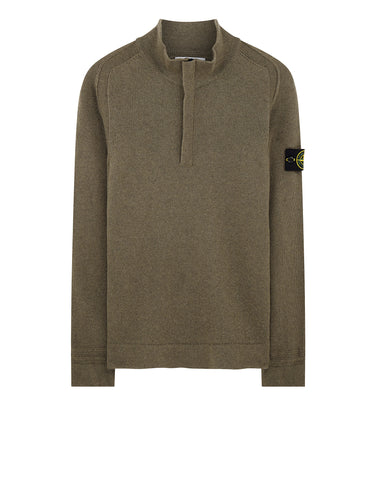 539A3 Lambswool Sweater in Olive