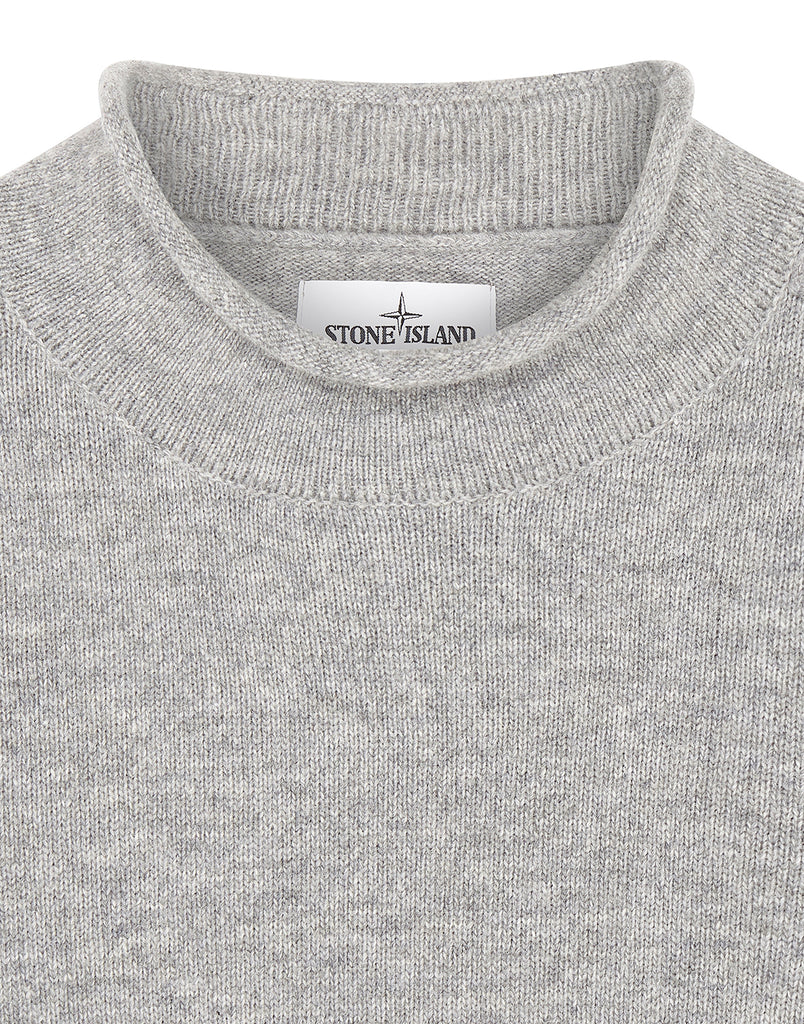 542A3 Lambswool Knit in Perl Grey