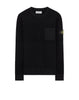 563A2 Wool Pocket Sweatshirt in Black