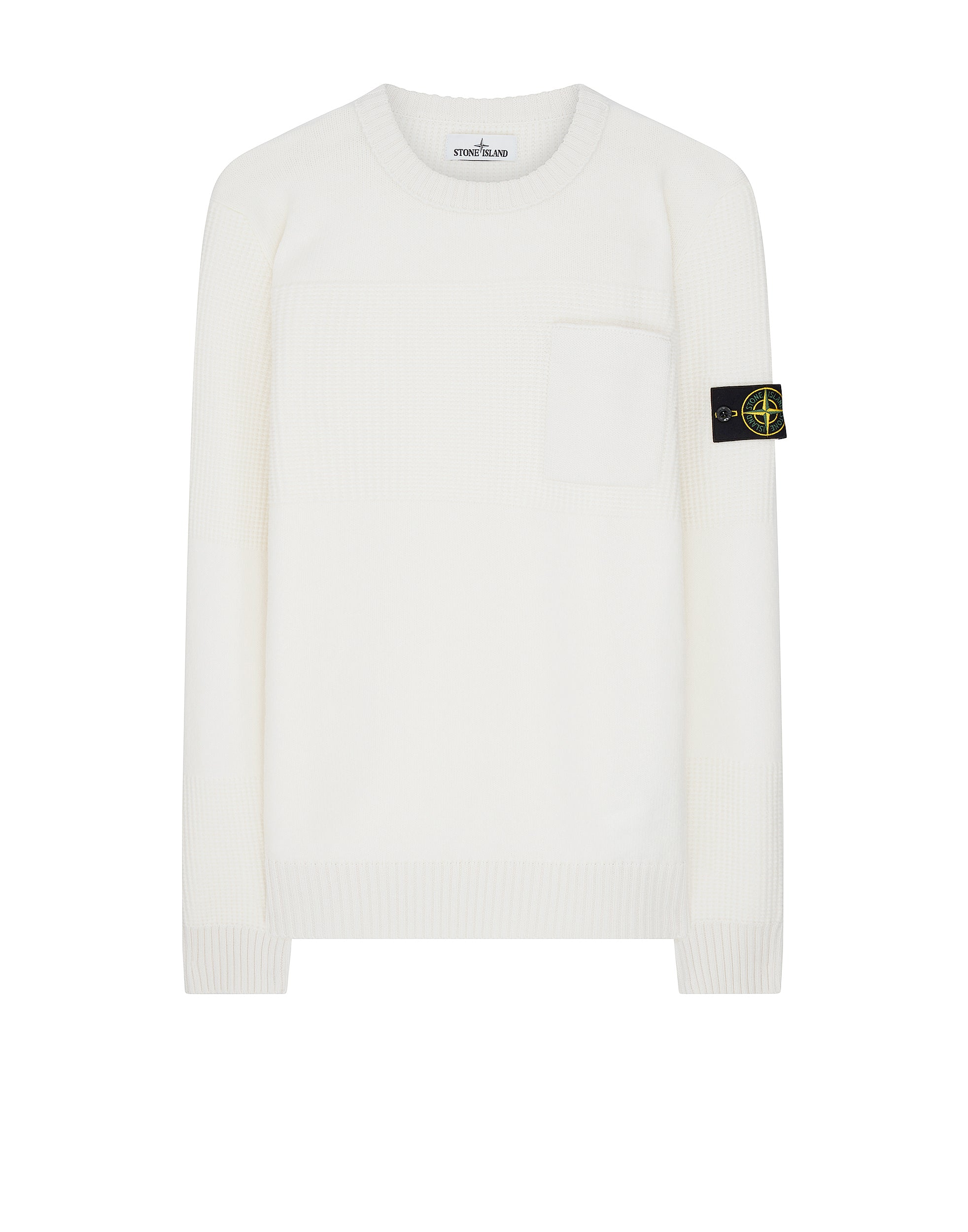563A2 Wool Pocket Sweatshirt in White
