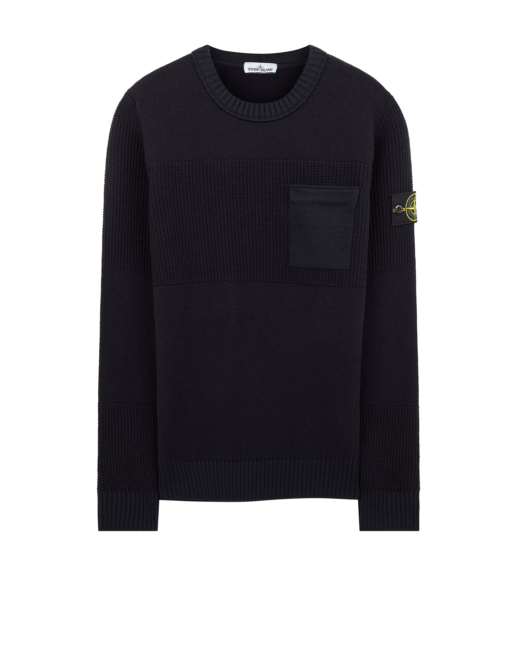 563A2 Wool Pocket Sweatshirt in Navy Blue