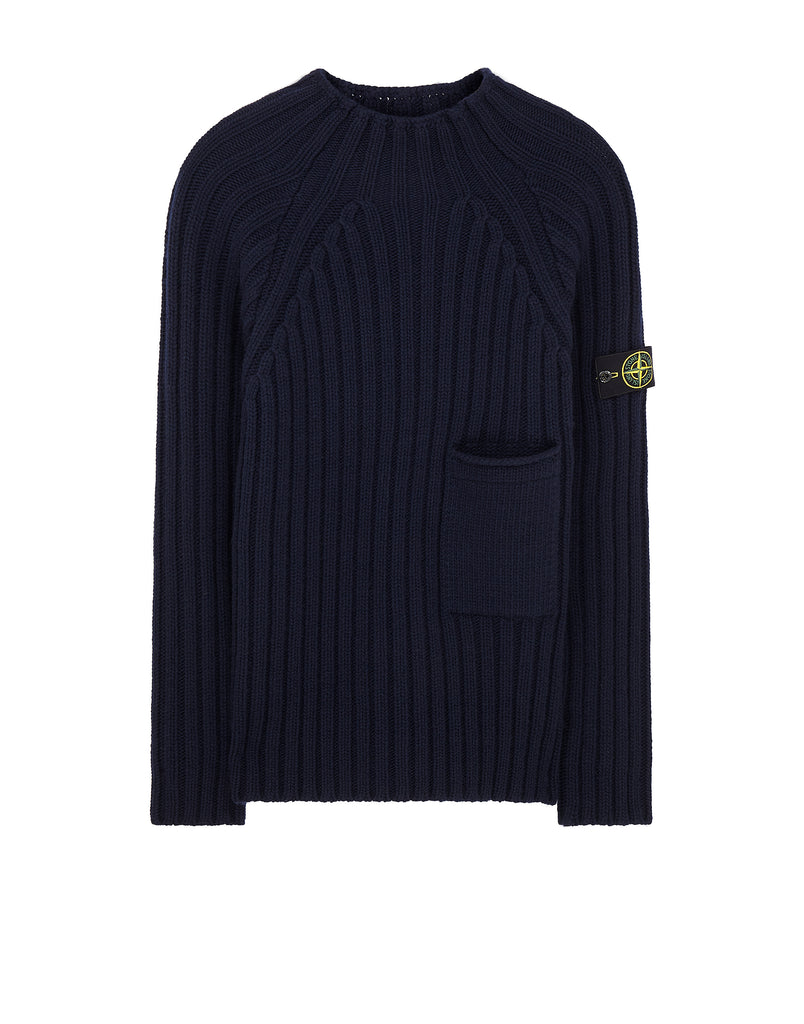 581B6 Ribbed Knit in Navy Blue