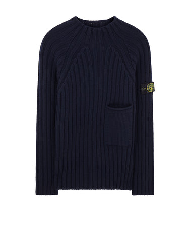 581B6 Ribbed Sweater in Navy Blue