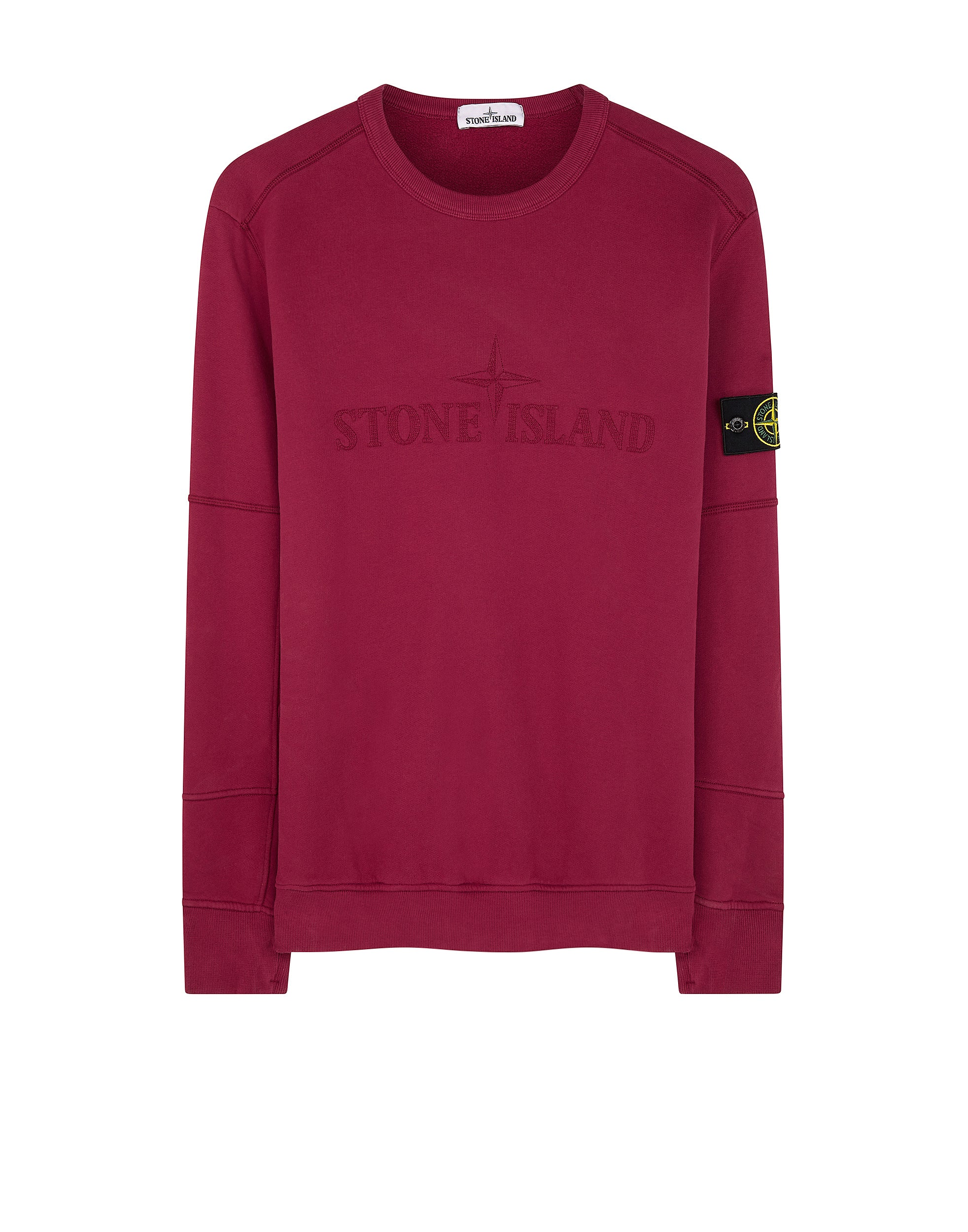 63420 Crewneck Brushed Cotton Sweatshirt in Cherry