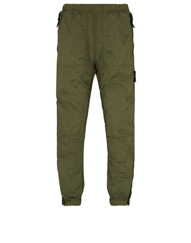 64212 NYLON METAL Trousers in Olive