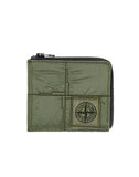 90279 NYLON METAL Wallet in Olive