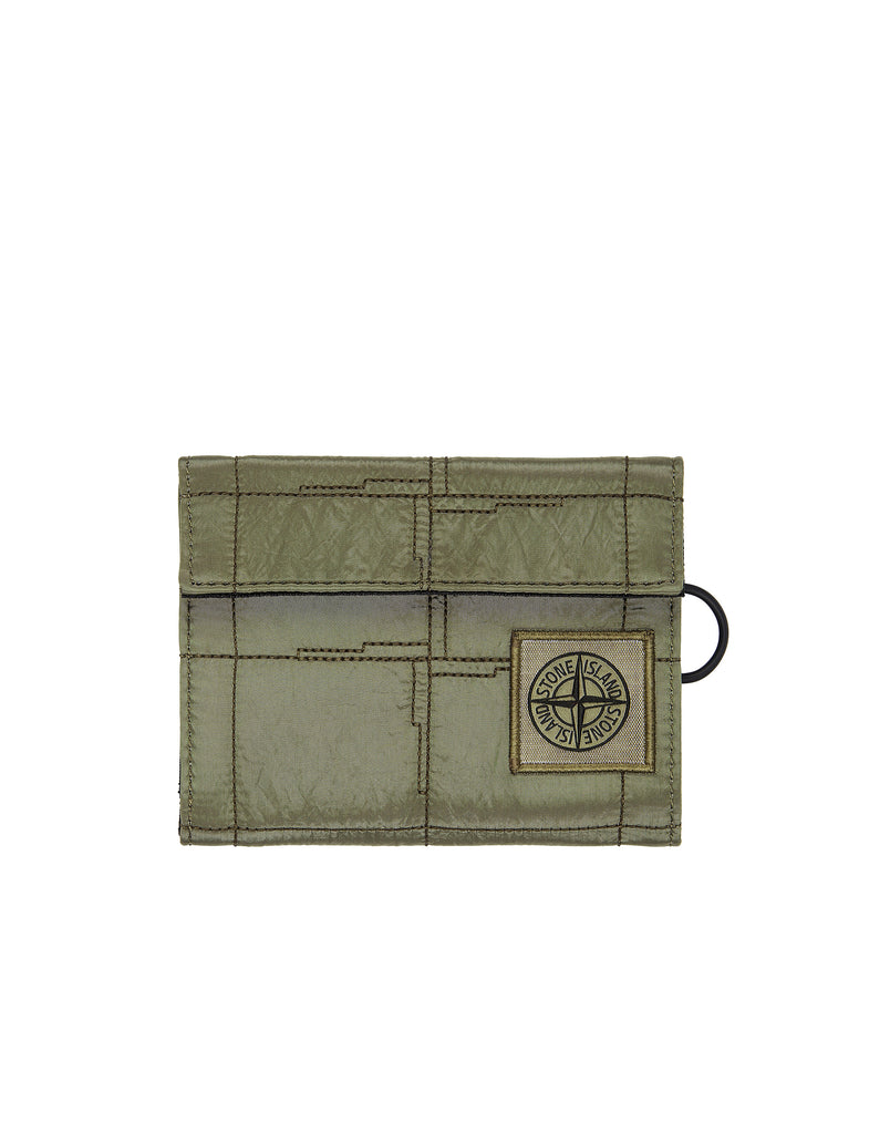 90479 NYLON METAL Wallet in Olive