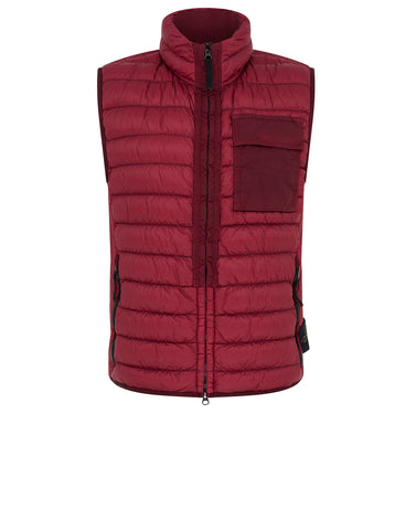 G0424 GARMENT DYED MICRO YARN DOWN_PACKABLE Jacket in Cherry