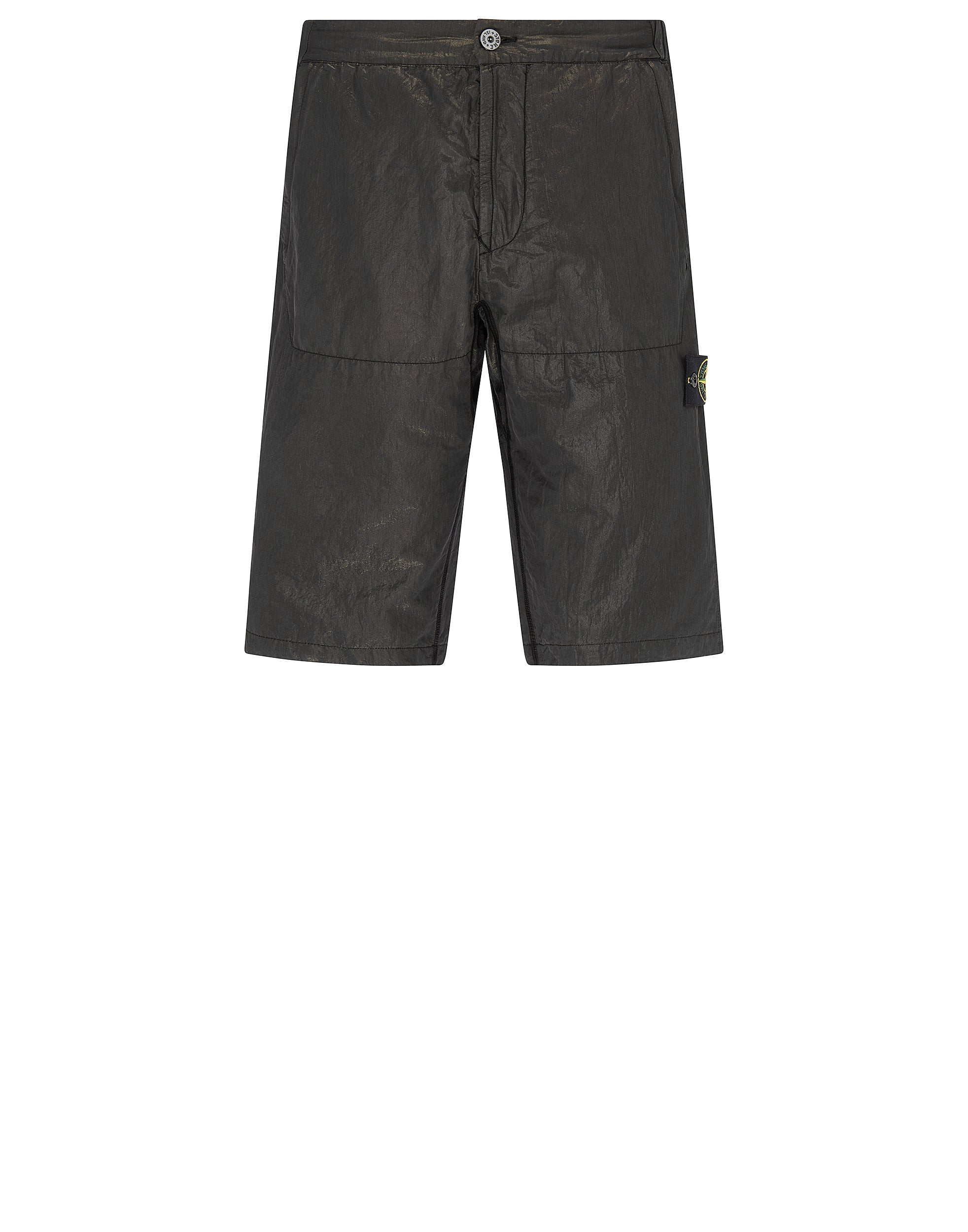 L0111 COTTON METAL Shorts in Black