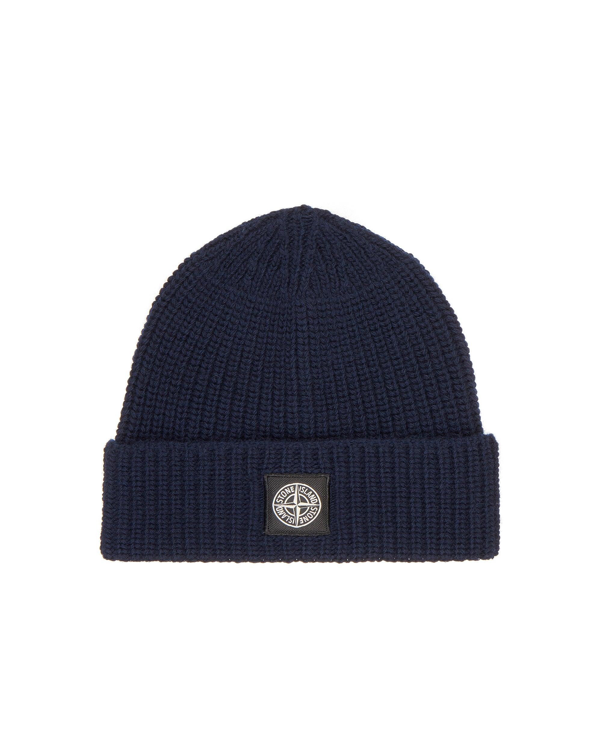 N10B5 Ribbed Wool Hat in Navy Blue