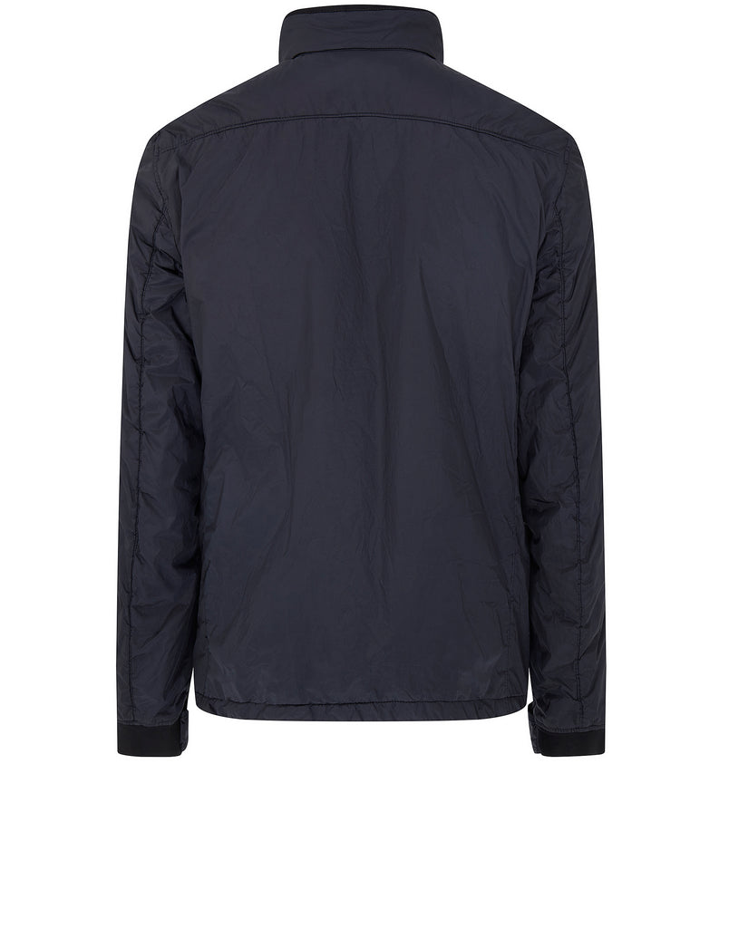 Q0223 GARMENT-DYED CRINKLE REPS Jacket in Navy Blue