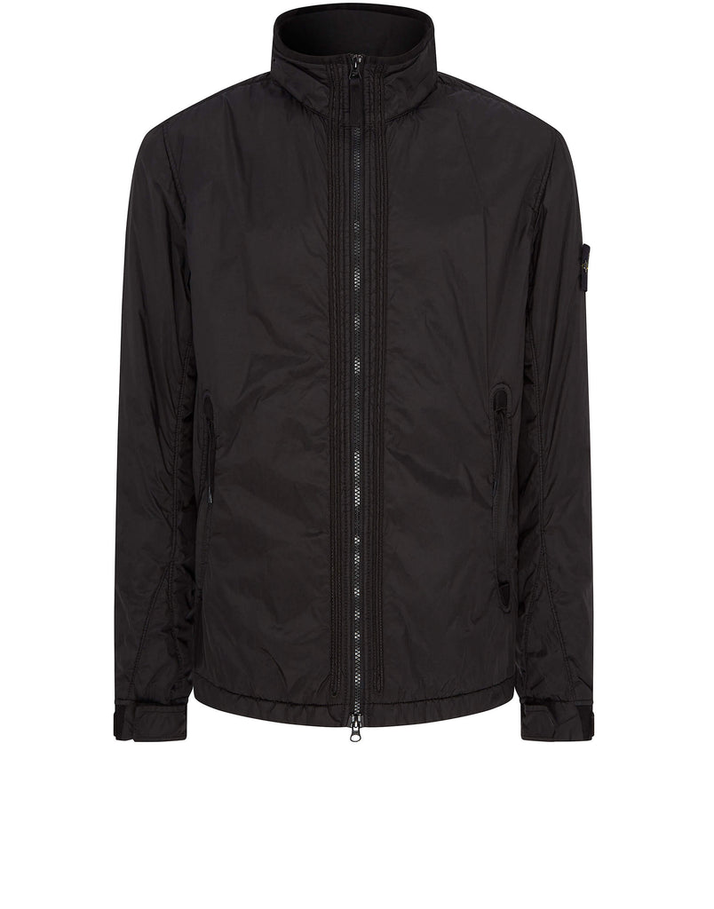 Q0223 Garment-Dyed Crinkle Reps Jacket in Black