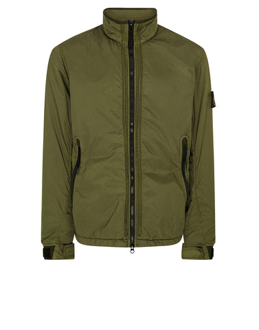 Q0223 GARMENT-DYED CRINKLE REPS Jacket in Olive
