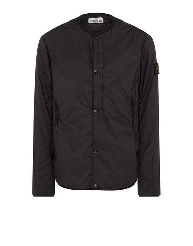 Q0423 GARMENT DYED CRINKLE REPS NY Overcoat in Black