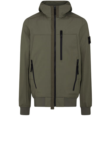 Q0522 SOFT SHELL-R Jacket in Olive